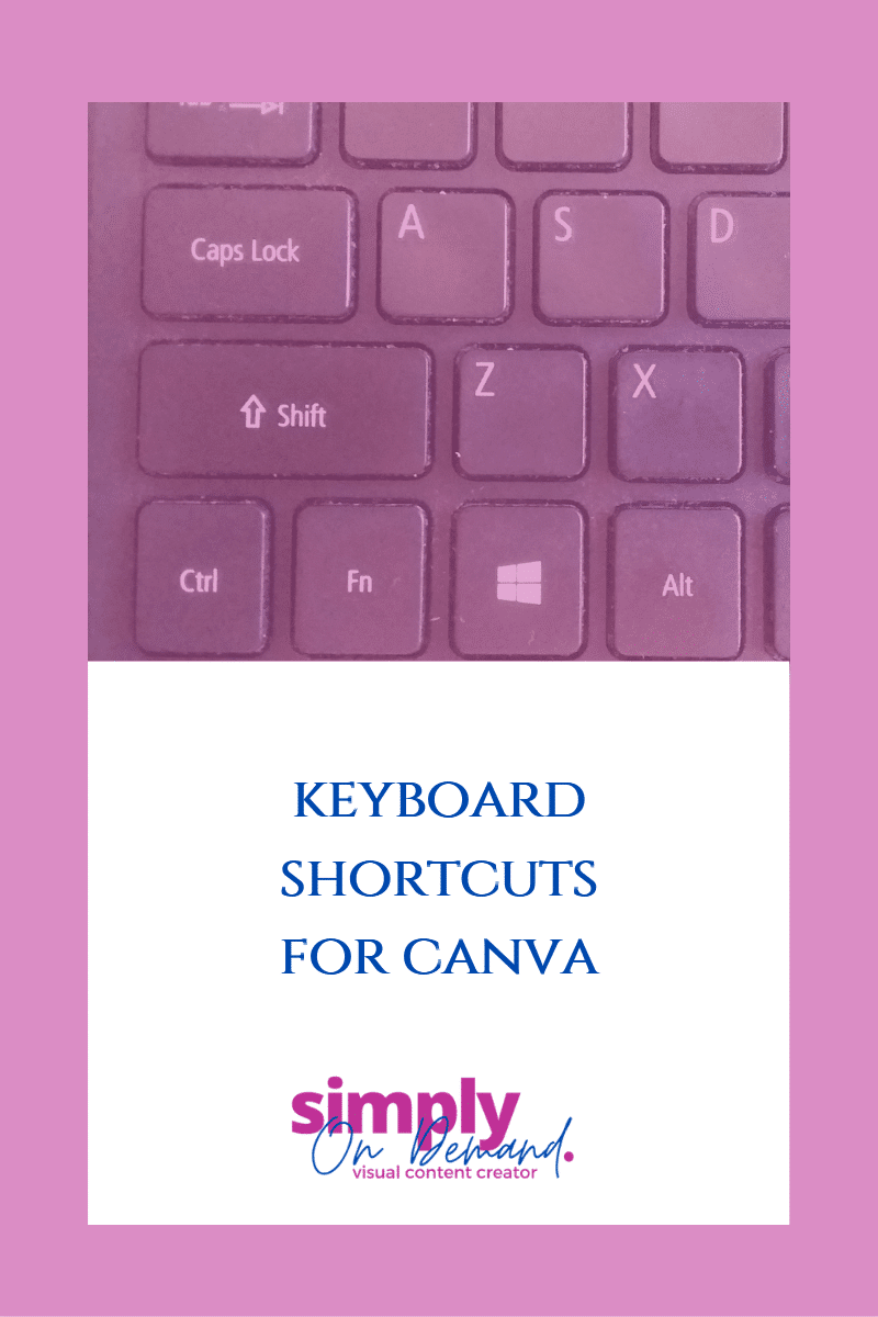 Keyboard shortcuts for Canva